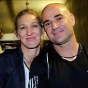Not long after both won the 1999 French Open titles, Steffi Graf and Andre Agassi began dating, and married in 2001. One of the most famous and decorated sporting couples in the world, Graf and Agassi have two children - Jaden Gil (born in 2001) and Jaz Elle (2003); Getty Images