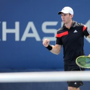 John Peers is pumped during his first round win with partner Jamie Murray at the US Open; Getty Images