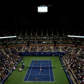 A general view of Arthur Ashe Stadium during the US Open women's doubles final between Australians Casey Dellacqua and Ash Barty and Czechs Andrea Hlavackova and Lucie Hradecka; Getty Images