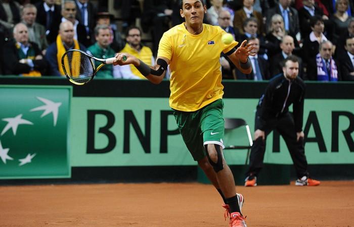 Nick Kyrgios, Davis Cup, 2014, France. AFP
