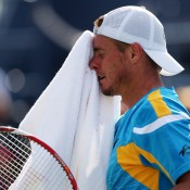 Unfortunately, Hewitt was unable to maintain his fourth set lead, dropping it 6-4 to Mikhail Youzhny after leading 4-1 in their US Open fourth round match; Getty Images