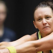 Casey Dellacqua in Fed Cup action for Australia; Getty Images