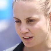 Jelena Dokic at the recent AO Blitz event in Perth; Getty Images