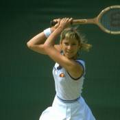 Chris Evert was dominant in the late 1970s and early 1980s, culminating the 1975, 1976, 1977, 1980 and 1981 seasons at the WTA's top-ranked player; Getty Images