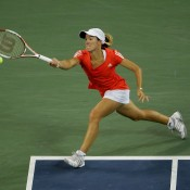 Justine Henin captured the year-end No.1 ranking for the third time in 2007, the same year she was pictured here on her way to the US Open title. The Belgian also finished year-end No.1 in 2003 and 2006; Getty Images