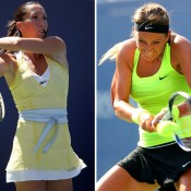 Jelena Jankovic (L) and Victoria Azarenka are the only two women in WTA history to have claimed the year-end No.1 ranking just once - Jankovic did so in 2008, while Azarenka achieved the feat in 2012; Getty Images