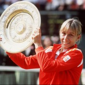 Martina Navratilova was the WTA's year-end No.1 player a staggering seven times, in 1978 and 1979, and five straight years from 1982-1986. Here she is pictured winning one of her nine Wimbledon singles titles in 1982; Getty Images