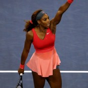 Serena Williams secured the 2013 year-end No.1 last Friday, helped by her recent victory at the US Open (pictured), her ninth title of the season. Williams also finished the 2002 and 2009 seasons as world No.1; Getty Images