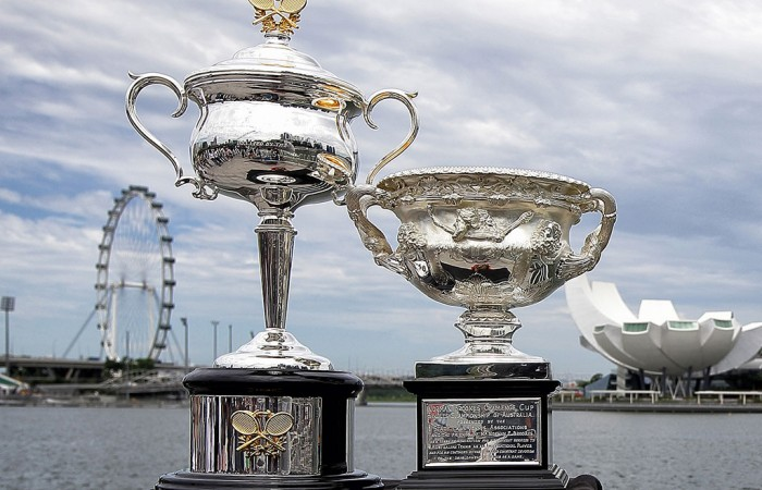 Daphne Akhurst Memorial Trophy, Norman Brookes Challenge Cup. GETTY IMAGES