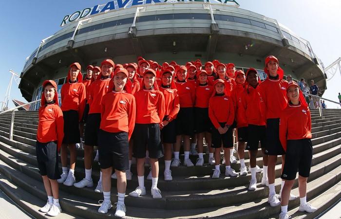 Ballkids, Australian Open, 2014. GETTY IMAGES