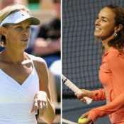 Nicole Bradtke (L) and Martina Hingis will feature at the 2014 World Tennis Challenge in Adelaide; Getty Images