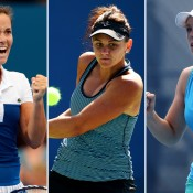 (L-R) Jarmila Gajdosova, Casey Dellacqua and Tammi Patterson; Getty Images