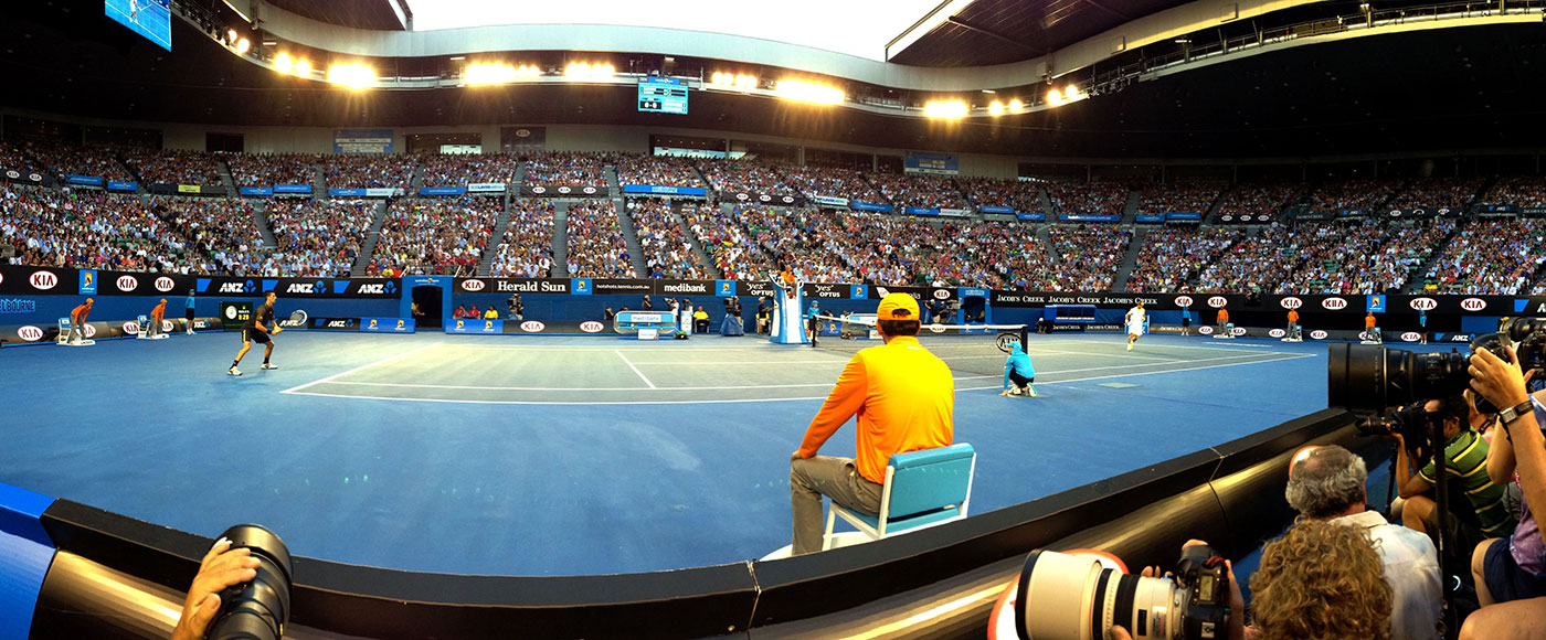 Rod Laver Arena, Australian Open 2013. GETTY IMAGES