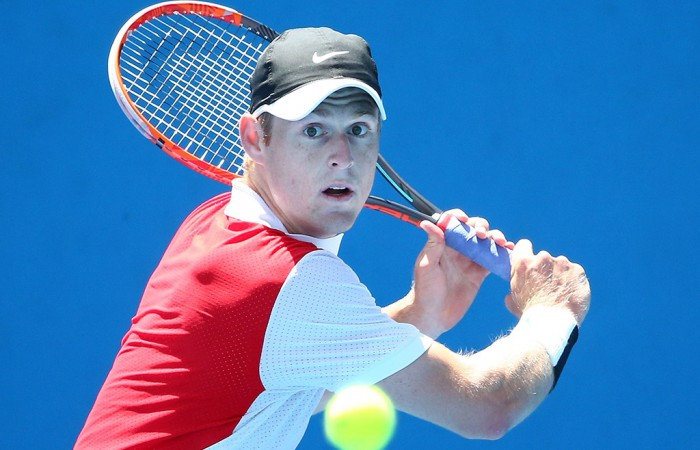 Luke Saville in action at the Australian Open 2016 Play-off; Getty Images