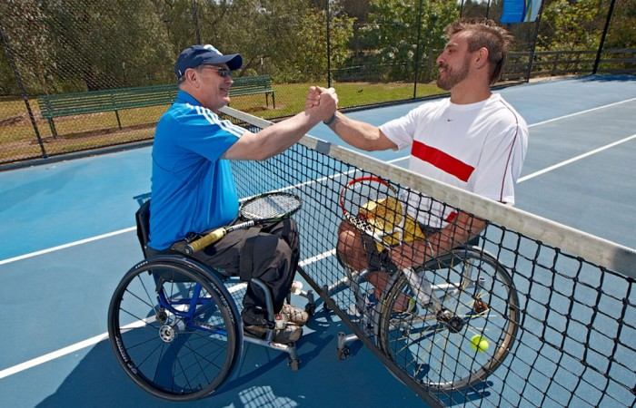 Wheelchair tennis, players, tennis, club, leagues, competition