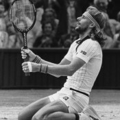 Swede Bjorn Borg, seen here celebrating his 1980 Wimbledon triumph, finished in the top three for all those years Connors finished No.1, until taking over the mantle from the American in 1979,. He also finished the 1980 season as the world No.1; Getty Images