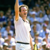 The year 1984, during which John McEnroe can be seen pictured here winning Wimbledon, was the last of a four-year stint ending the season as the world's top player; Allsport