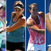(L-R) Anastasia Rodionova, Casey Dellacqua, Jarmila Gajdosova and Jelena Dokic will be major drawcards in the women's draw of the Australian Open Play-off; Getty Images