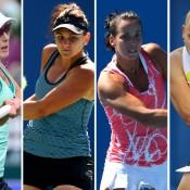 (L-R) Anastasia Rodionova, Casey Dellacqua, Jarmila Gajdosova and Jelena Dokic will be major drawcards in the women's draw of the Australian Open Play-off; Getty Images