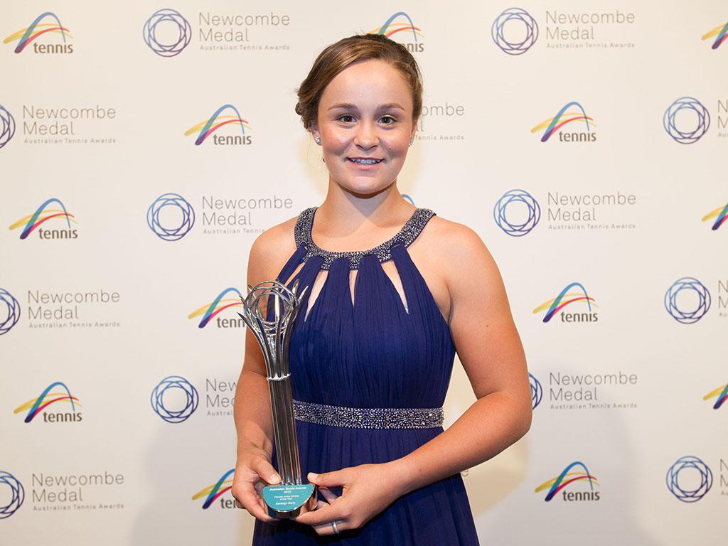 Ashleigh Barty, Newcombe Medal, Australian Tennis Awards 2013, Melbourne. XUE BAI