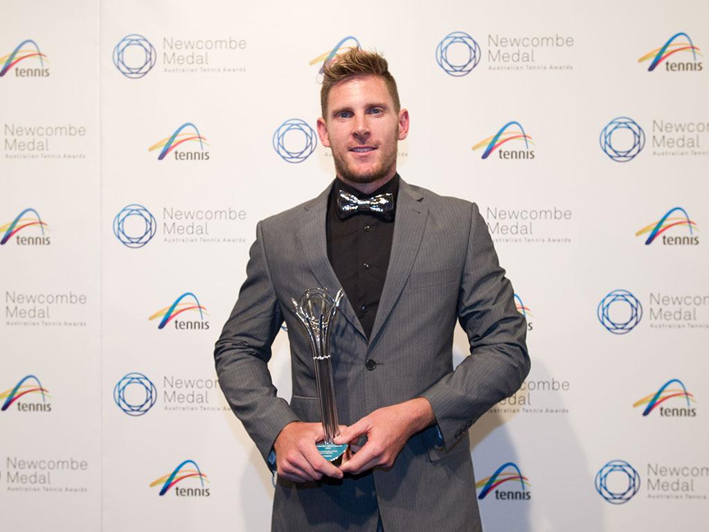 Ben Weekes, Newcombe Medal, Australian Tennis Awards 2013, Melbourne. XUE BAI