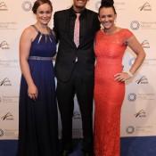 (L-R) Ashleigh Barty, Nick Kyrgios and Casey Dellacqua, Newcombe Medal, Australian Tennis Awards 2013. XUE BAI