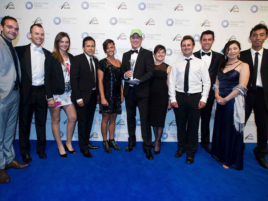 City Community Tennis, Newcombe Medal, Australian Tennis Awards 2013, Melbourne. XUE BAI