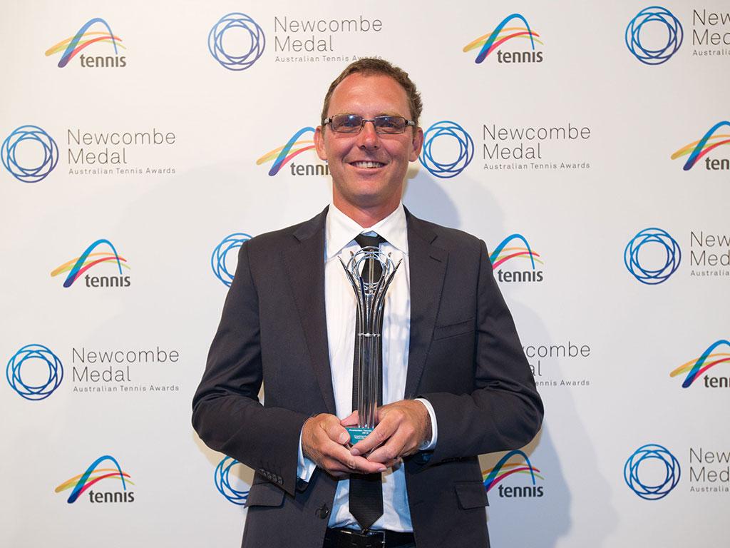 Clint Fyfe, Newcombe Medal, Australian Tennis Awards 2013, Melbourne. XUE BAI