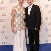 Alicia Molik (L) and Craig Tiley, Newcombe Medal, Australian Tennis Awards 2013. XUE BAI