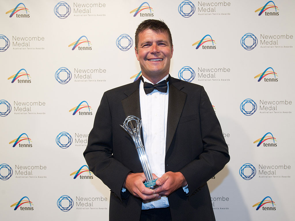 David Grainger, Newcombe Medal, Australian Tennis Awards 2013, Melbourne. XUE BAI