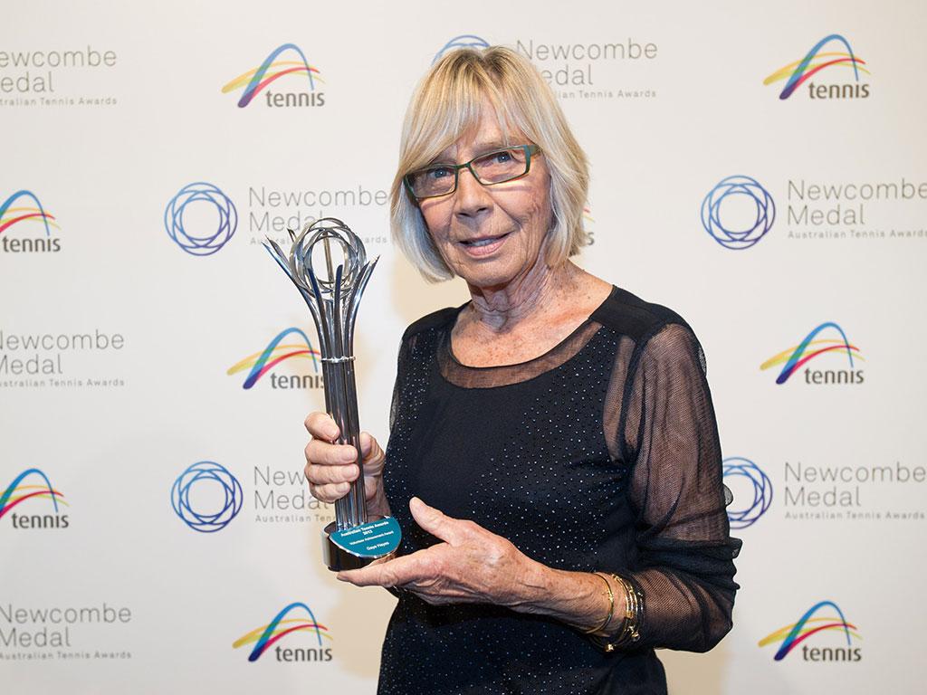 Gaye Hayes, Newcombe Medal, Australian Tennis Awards 2013, Melbourne