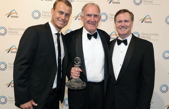 Lleyton Hewitt, Tony Roche and Steve Healy, Newcombe Medal, Australian Tennis Awards 2013. XUE BAI