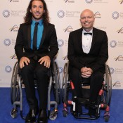 Adam Kellerman (L) and David Hall, Newcombe Medal, Australian Tennis Awards 2013. XUE BAI