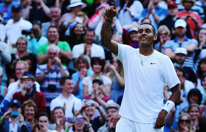Nick Kyrgios, Wimbledon, 2014. GETTY IMAGES