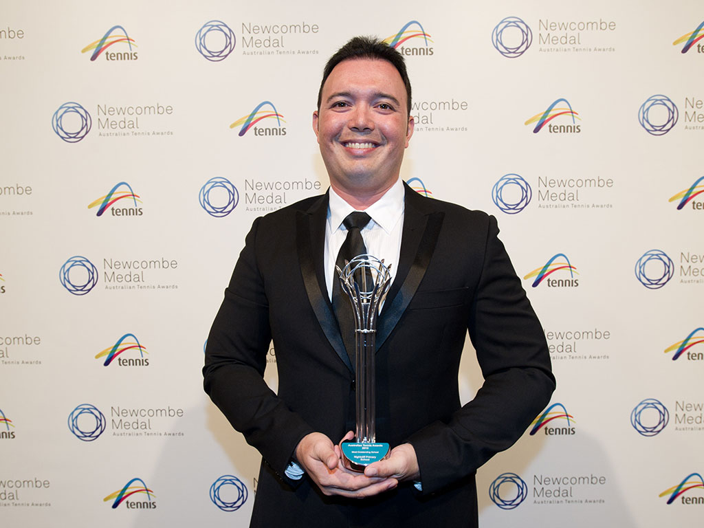 Matthew Ryan, Newcombe Medal, Australian Tennis Awards 2013, Melbourne. XUE BAI