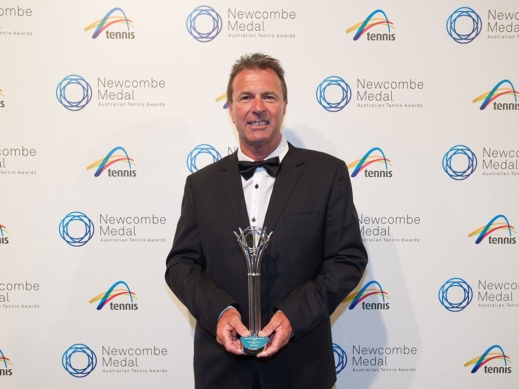 Neil Smith, Newcombe Medal, Australian Tennis Awards 2013, Melbourne. XUE BAI