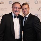 John Newcombe (L) and Lleyton Hewitt, Newcombe Medal, Australian Tennis Awards 2013. XUE BAI