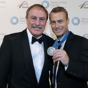 John Newcombe and Lleyton Hewitt, Newcombe Medal, Australian Tennis Awards 2013. XUE BAI