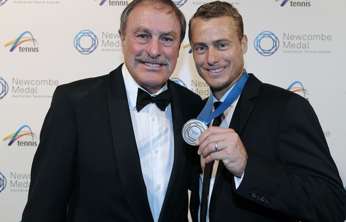 John Newcombe and Lleyton Hewitt, Newcombe Medal, Australian Tennis Awards 2013. XUE BAI