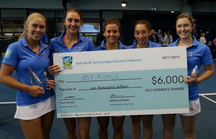 The RSY Royals were crowned champions in the Victoria conference of the ATL; Tennis Victoria