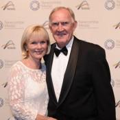Tony Roche (right) and wife Sue, Newcombe Medal, Australian Tennis Awards 2013. XUE BAI