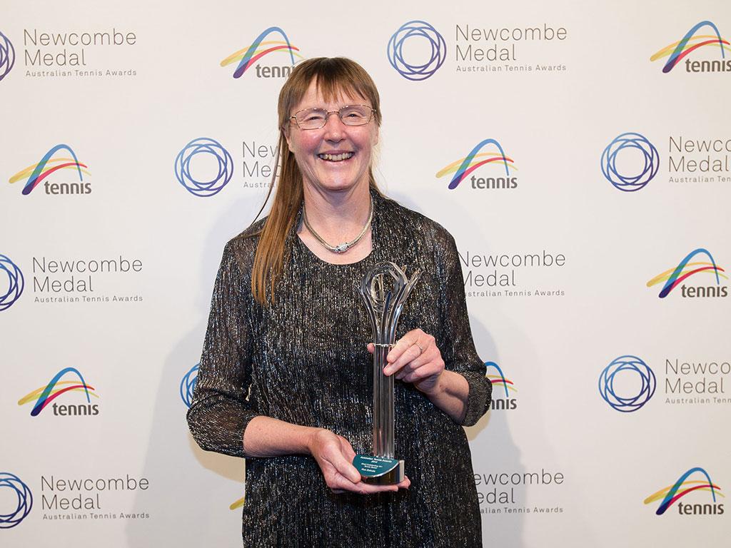 Ros Balodis, Newcombe Medal, Australian Tennis Awards 2013, Melbourne. XUE BAI