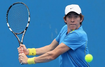 JP Smith, AO Play-off, Melbourne Park, 2013. GETTY IMAGES