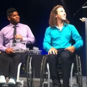 Keegan Oh-Chee (L) and Adam Kellerman are honoured at the NSW Sports Foundation 2013 awards as members of the winning Australian Men's Wheelchair Tennis team; Tennis Australia