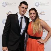 Bernard Tomic (left) and Sara Tomic, Newcombe Medal, Australian Tennis Awards 2013. XUE BAI