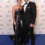 Jarmila Gajdosova (left) and partner, Newcombe Medal, Australian Tennis Awards 2013. XUE BAI