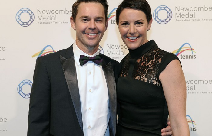 Todd and Natasha Woodbridge, Newcombe Medal, Australian Tennis Awards 2013. XUE BAI