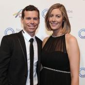 Scott Draper (left) and partner, Newcombe Medal, Australian Tennis Awards 2013. XUE BAI