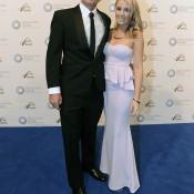 Matt Reid (left), Newcombe Medal, Australian Tennis Awards 2013. XUE BAI
