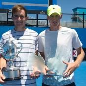 Bradley Mousley and Harry Bourchier, 18s Australian Nationals, Melbourne Park, 2013. XUE BAI